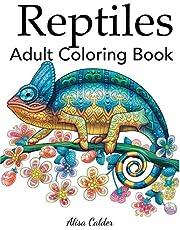 Reptiles Adult Coloring Book