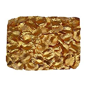 ZXUY 1000 PCS Fabric Silk Flower Rose Petals Wedding Party Decoration Table Confetti - Gold 1