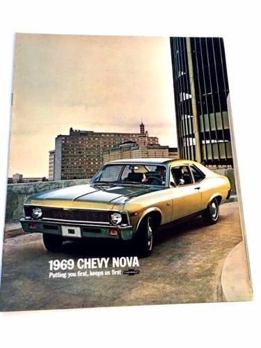 Chevy Nova Sales - 1969 Chevrolet Chevy Nova and SS 16-page Original Car Sales Brochure Catalog