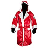 Cleto Reyes Satin Boxing Robe with Hood - Large - Red/White