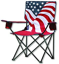 US Flag Folding Chair