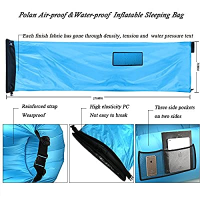Polan™ Inflatable Air Lounger , Waterproof Lazy Bag Air Hangout Sleeping Bag Outdoor or Indoor Portable Air Sleeping Sofa for Camping & Beach & Park & Backyard