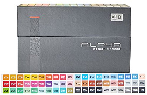 Alpha EF 60 Grafikmarker 60er Set B Box Design Marker by Alpha EF
