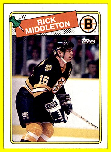 1988-89 Topps #87 Rick Middleton BOSTON BRUINS by thecardattic