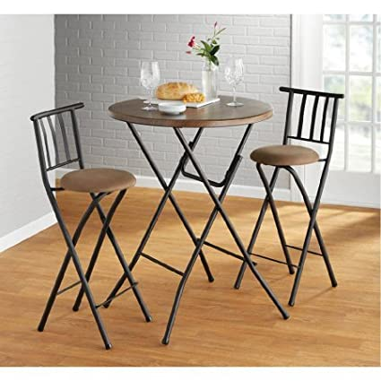 Mainstays 31 Round Hi Top Table Faux Wood