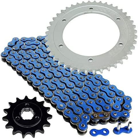 Caltric Blue Drive Chain And Sprocket Kit Compatible With Suzuki Dr650Se Dr 650 Se 1996-2018
