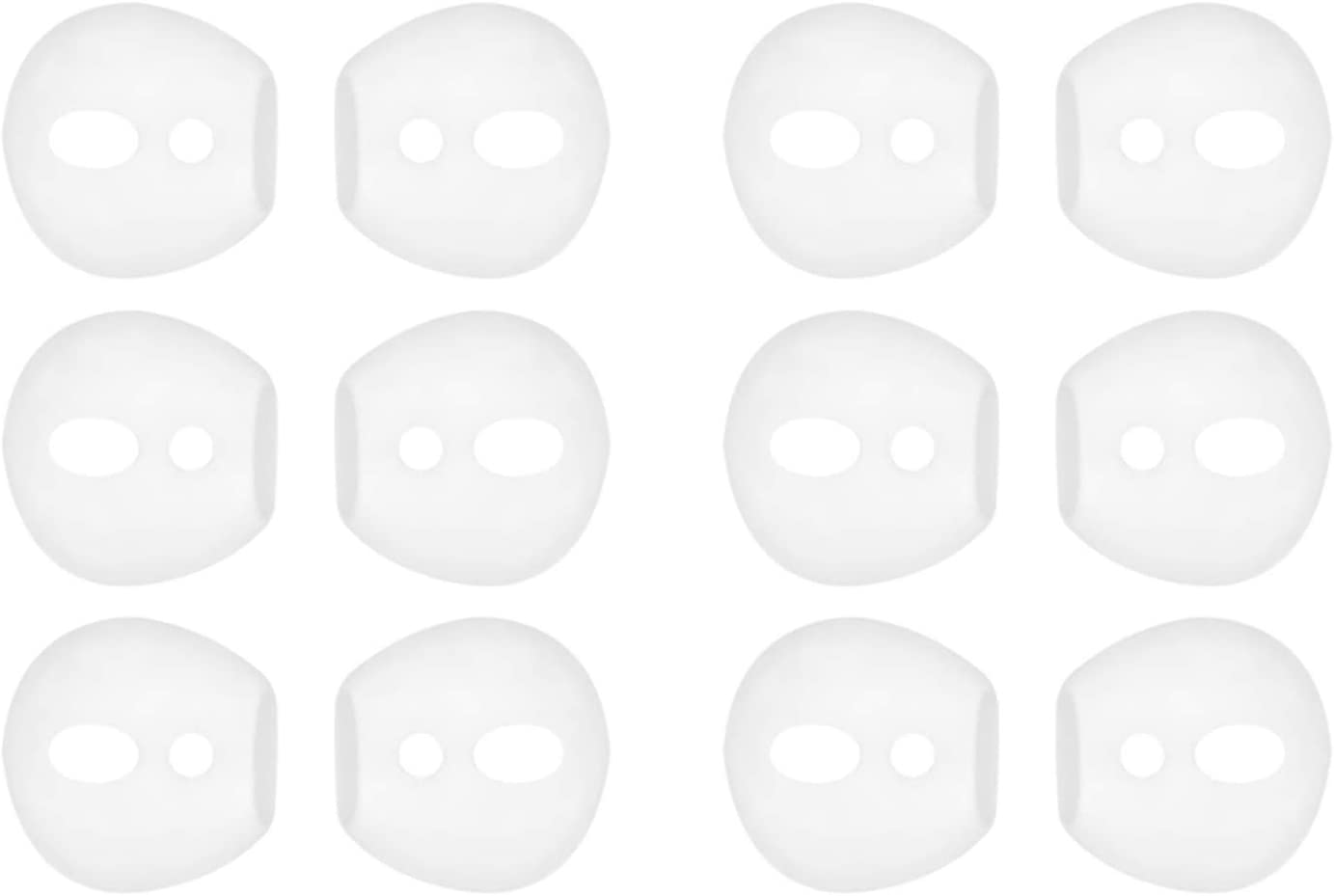 IiEXCEL Fit in Case Earbuds for AirPods, 6 Pairs Replacement Super Thin Slim Silicone Eartips Ear Tips Buds Covers Skin Accessories for Apple AirPods 1 AirPods 2 (Fit in Charging Case) 6 White