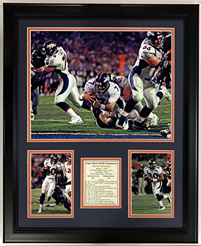 Legends Never Die NFL 1998 Denver Broncos Super Bowl XXXIII Champions Framed Double Matted Photos, 18