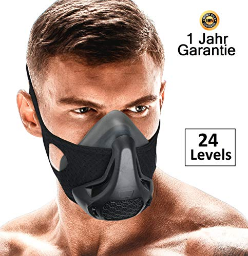 DEMMYZZ Workout Mask | Training Masks | High Altitude Breathing Imitation | Running, Oxygen Deprivation | Air Hypoxic Restriction For Men & Women | Gym Exercise Fitness 3.0 Work Out Cardio, Sports 2.0