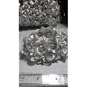 """NST Mini Rose 1"""" On 4"""" Wire Stem Silver Pack of 144 Roses. Our Exclusive! 38"""