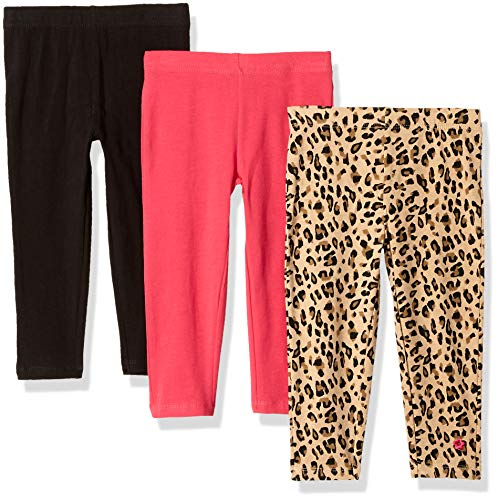 Limited Too Girls' Toddler 3 Pack Ankle Length Knit Leggings Set, Leopard Multi Color, 4T (Toddler Leopard Leggings)