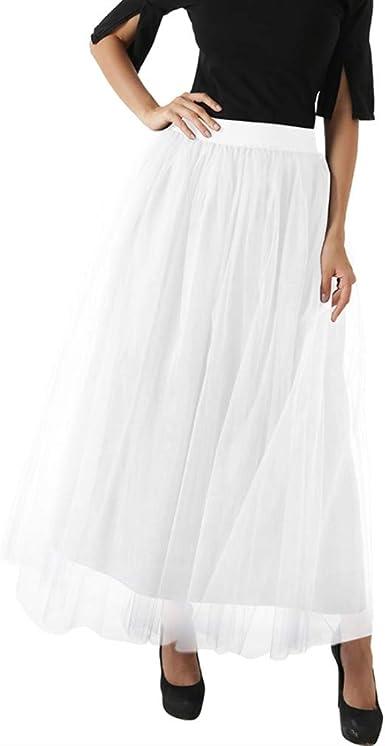 Falda de tul para mujer, falda de malla larga, falda rockabilly ...