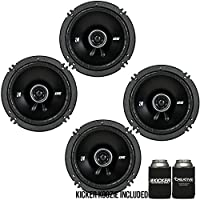 Kicker DSC650 6.5-Inch (160-165mm) Coaxial Speakers, 4-Ohm bundle