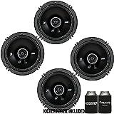 Best Kicker Car Door Speakers - Kicker DSC650 6.5-Inch (160-165mm) Coaxial Speakers, 4-Ohm bundle Review