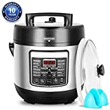 DEENKEE 10-in-1 Multi-Function Pressure Cooker 6 Quart, Instant Programmable Rice Cooker, Slow Cooker, Sauté, Yogurt Maker, Baker, Egg Cooker, Hot Pot and Steamer