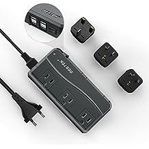 [Upgraded Silent Design] BESTEK Voltage Converter for International Travel, 220v to 110v Travel Adapter and Converter - Use for USA Appliances Overseas in European / UK / Ireland / Australia and more