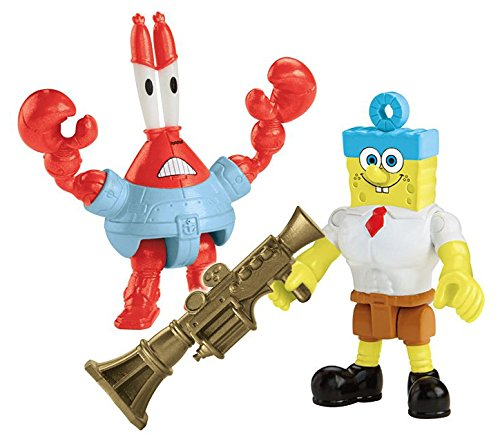 Fisher-Price Imaginext Nickelodeon SpongeBob SquarePants Movie (2-Pack), Invinci Bubble and Sir Pinch-a-lot (Spongebob Squarepants Water)