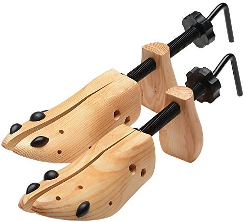 Trenton Gifts Wooden Shoe Stretcher for Men Women Set of 2 Shoe Trees - Men's Large (11-14)