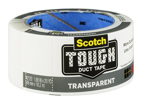 3M 2120-A 1.88'' X 20 Yards Transparent Duct Tape by Scotch