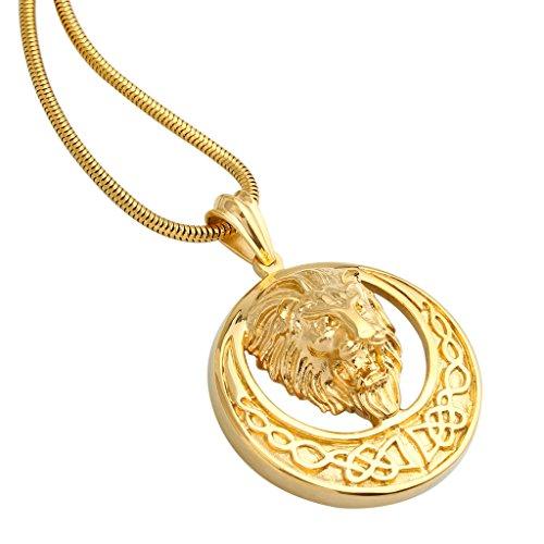 Goldkette mit anhänger herren  Adisaer 316 Edelstahl 18k Gold Vergoldet Herren Halskette Gravur ...
