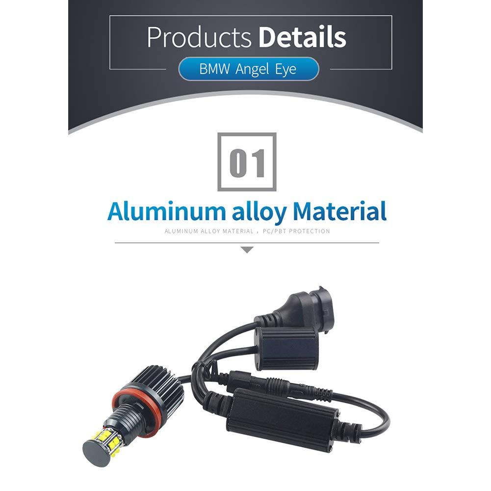 Romsion Accesorios para veh/ículo para BMW 3//5//7 Series E92 E82 E93 Angel Eyes Lights H8 120W 6 Lados Angel Eyes Fog Lamp