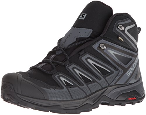Boot Backpacking Mid Gtx (Salomon Men's X Ultra 3 Mid GTX Hiking Boot, Black, 10.5 M US)