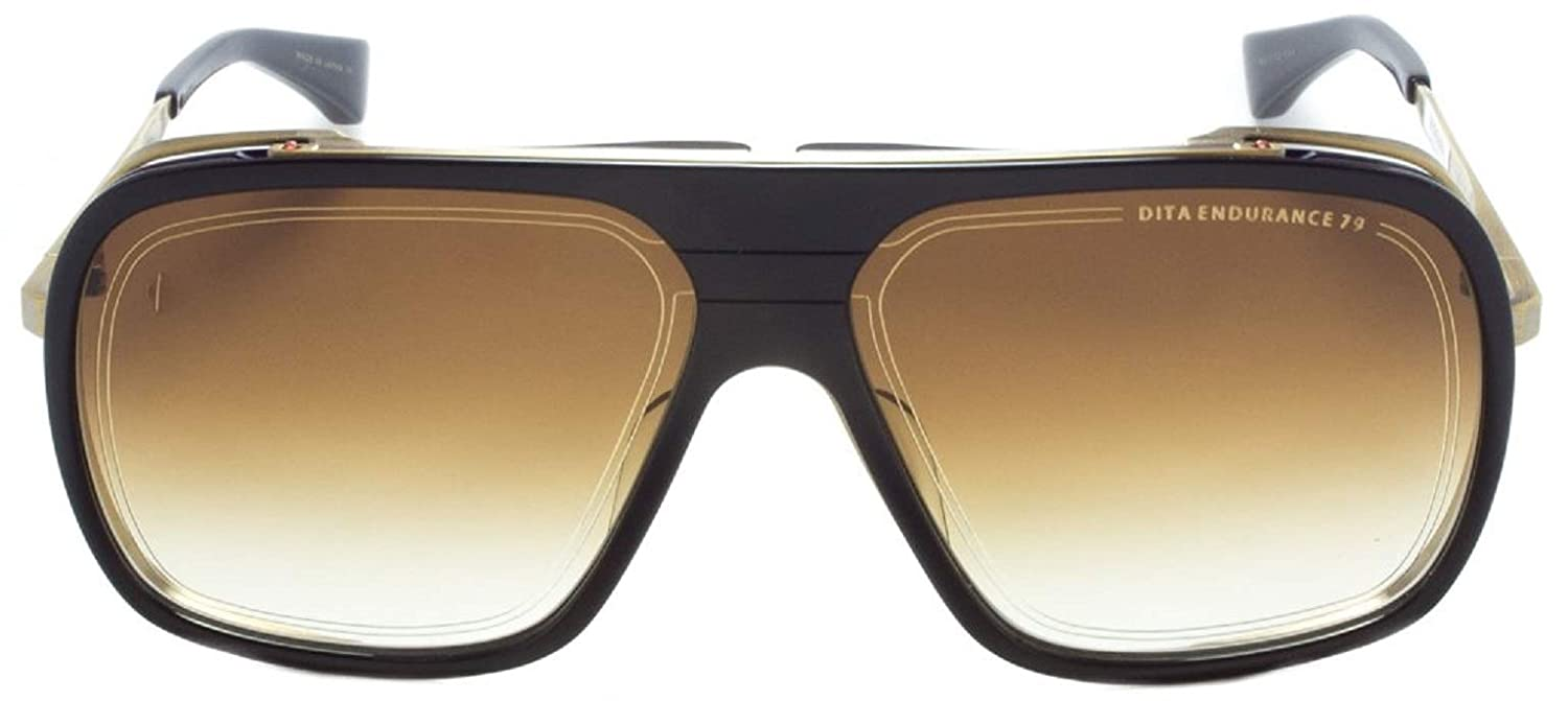 b6987b6e75ae DITA Endurance 79 DTS-104 Gold   Black Aviator Sunglasses with Brown Lens  Unisex  Amazon.co.uk  Clothing