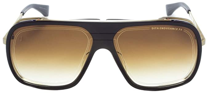 e4f0e5dcb226 Image Unavailable. Image not available for. Colour  DITA Endurance 79  DTS-104 Gold   Black Aviator Sunglasses with Brown Lens Unisex