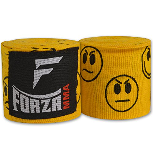 Forza MMA 180 Mexican Style Boxing Handwraps - Smileys Yellow
