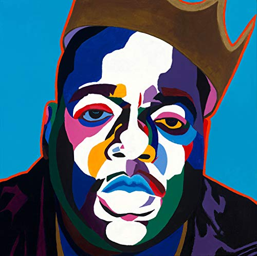 Vakseen Art - Sicker Than Yer Average - Biggie portrait art - Notorious BIG art - Limited Edition Giclee Print & Framed Pop Art for Wall Decor