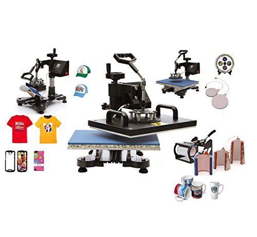 Ceny 8 In1 Digital Heat Press Machine 12 X 15 Inch Swing Away Heat Press Transfer Sublimation DIY T-Shirt Mug Hat Plate T-shirt Press Machine with Clamshell Design (8 In1 1250W) by Ceny