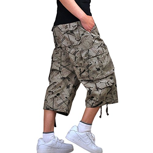 Yollmart Men's Camo Shorts Casual Military Combat Cargo Trouser by Yollmart