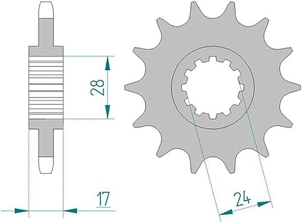 Petit pignon 14 dent pas 525 pour HONDA CB 600 F HORNET 1998-2006
