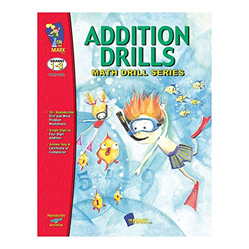 On the Mark Press OTM1128 Math Drill Book Series, Addition Drills, 0.25