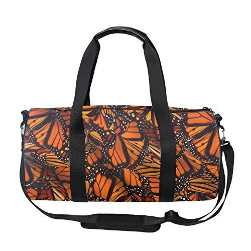 Packable Travel Duffle Bag,Monarch Butterflies Large Lightweight Luggage Duffel