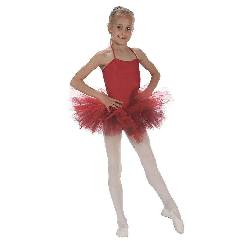 c70b748ddfde Amazon.com  Sansha Red 5 Layer Tulle Dance Tutu Ballet Skirt Little ...