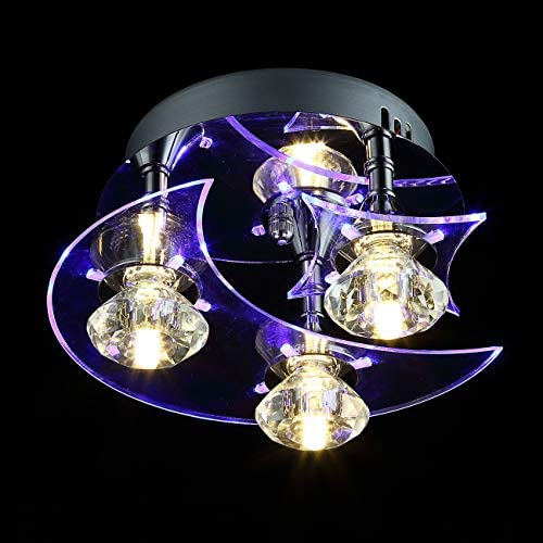 YOURDER G4 LED Acrylic Crystal Ceiling Light Fixture