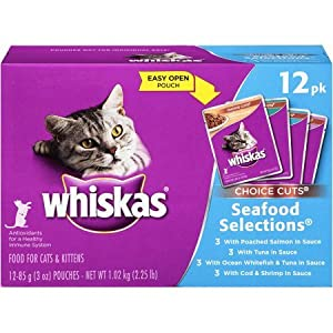 WHISKAS CHOICE CUTS Wet Cat Food Pouches