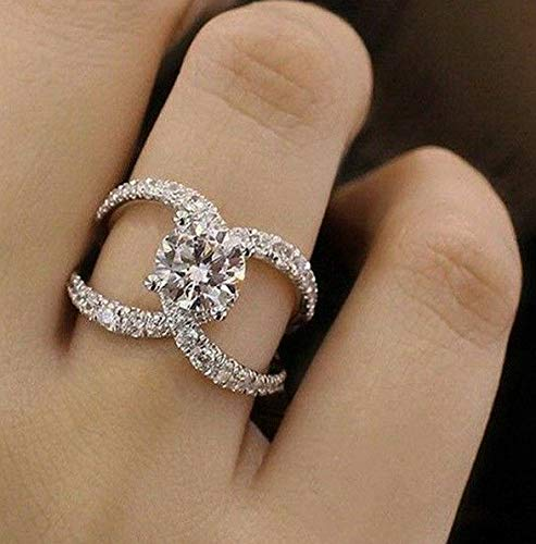 - Rhame Infinity 925 Silver Women Wedding Rings White Sapphire Fashion Jewelry Size 6-10 | Model RNG - 8713 | 5