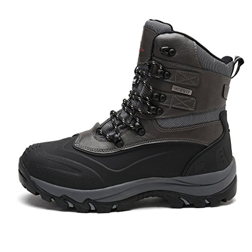 Skii Winter Snow Boots Sole Construction Waterproof Insulated arctiv8 Mens Rubber Grey Black 6Yw08xpq