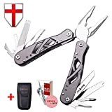Grand Way Mini Multitool with Knife and Pliers - Best Utility Multi Purpose Tool with All in One Tool Set - Everyday Universal Knife for Camping, Survival and Outdoor Activities 2236