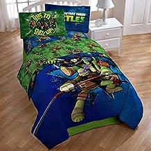 Teenage Mutant Ninja Turtle Full Sheet Set and Comforter (5 Piece Bedding Collection)