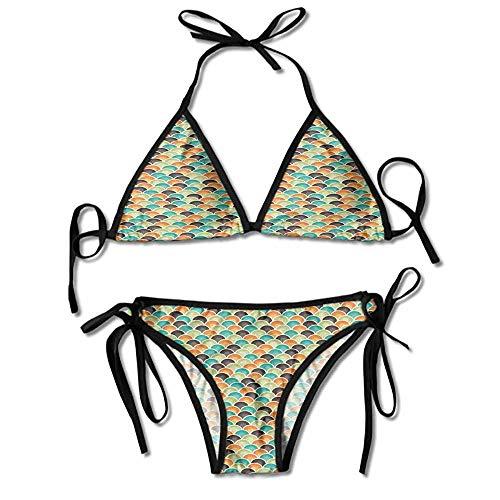 Belted Hipster Bikini - kjhep lk Women's Reversible Belted Hipster Bikini Bottom Personality Swimwear Bikini Set