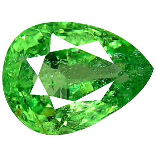 0.88 ct Pear Cut (7 x 5 mm) Un-Heated Tanzanian Tsavorite Garnet Loose Gemstone