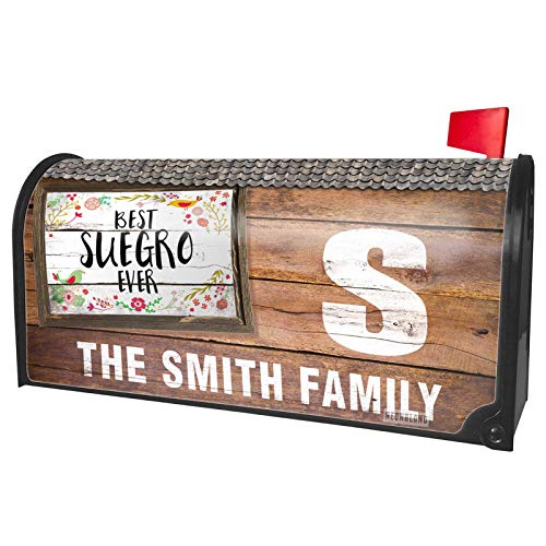 NEONBLOND Custom Mailbox Cover Happy Floral Border -