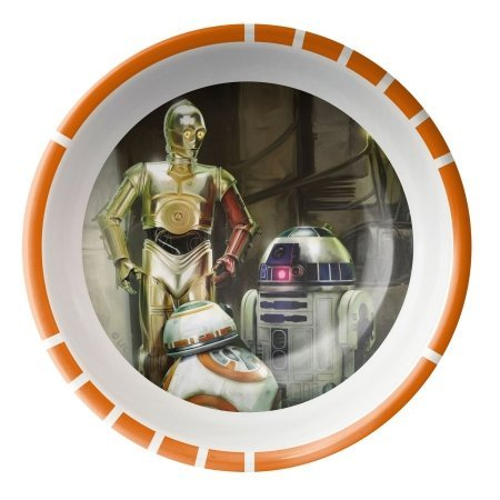 Zak Designs Star Wars: The Force Awakens C-3PO, R2-D2 and BB-8 Plastic Cereal Bowl 5 Inch