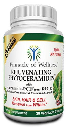 Pinnacle of Wellness Rejuvenating Phytoceramides, Skin, Hair and Cell Renewal Capsules for Women and Men (40 Mg. 30 Capsules)