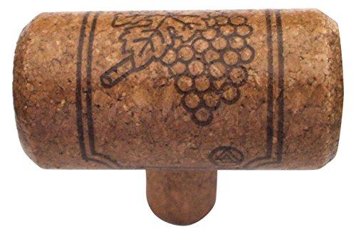 Gold Leaf Cork Cabinet Knob (Vine Designs MER-ESP Merlot Series Wine Cork Knob)