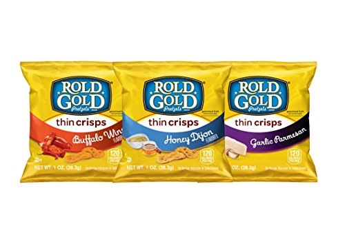 Rold Gold Flavored Thin Crisps Pretzel Variety Pack, 40 Count