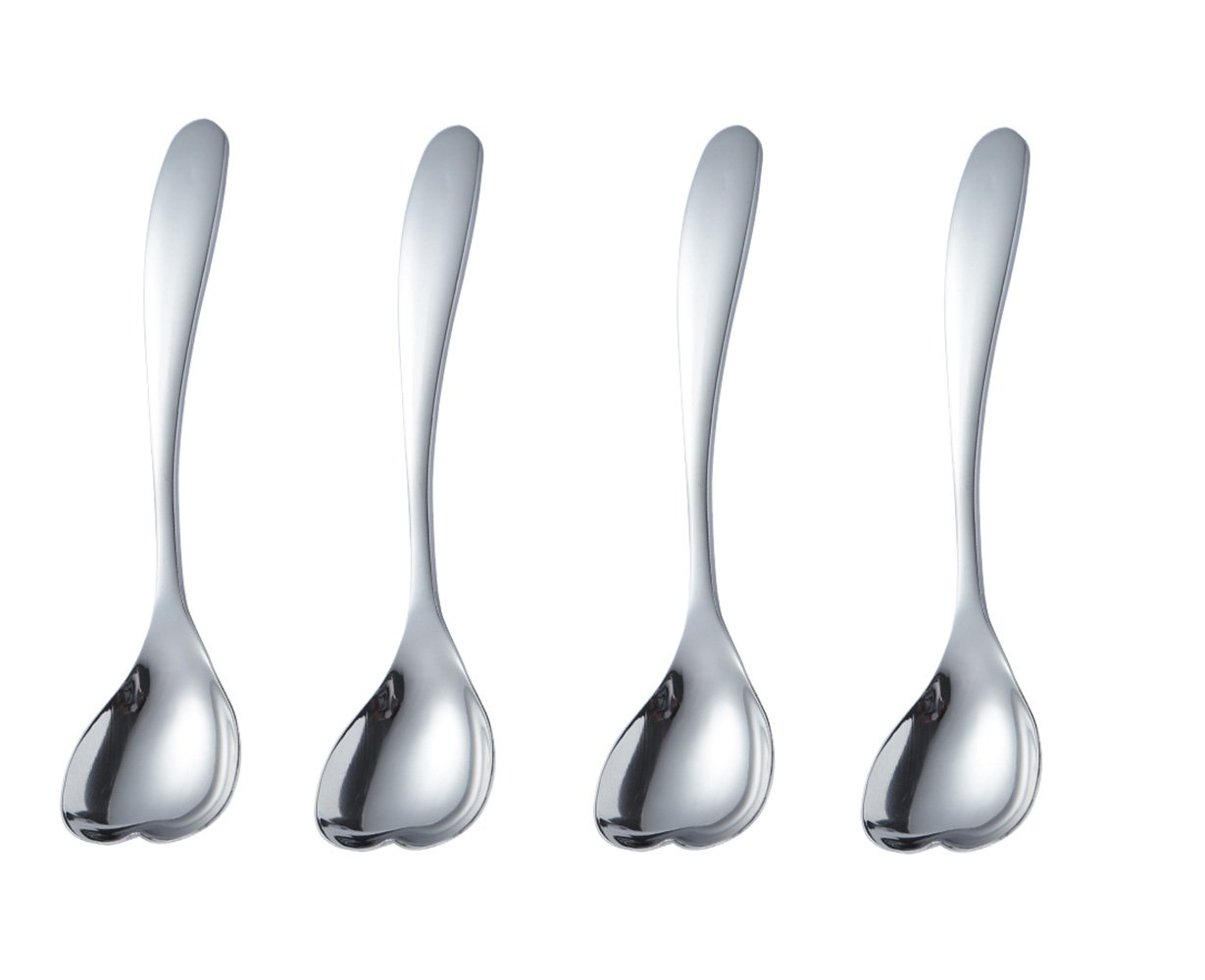 Feb.7 Heart-Shaped Love Spoon Ice Cream Spoons Set of 4